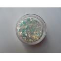 Glitter Celeste e Panna G153